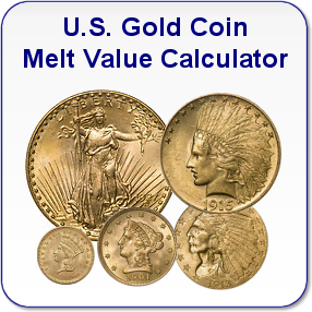 U.S. Gold Coin Melt Value Calculator