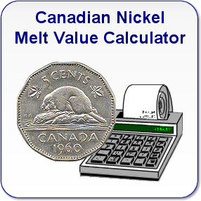 Canadian Nickel Melt Value Calculator
