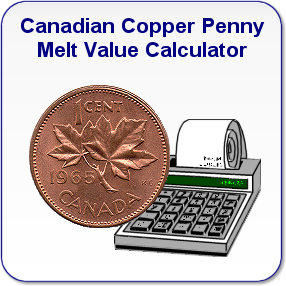 Canadian Copper Penny Melt Value Calculator