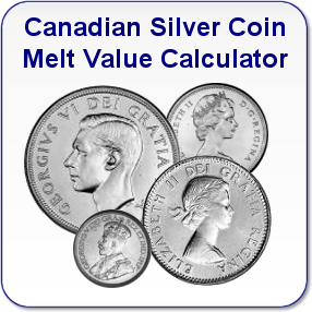 Canadian Silver Coin Melt Value Calculator