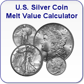 U.S. Silver Coin Melt Value Calculator